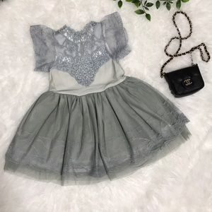 Other - Super Cute Gray Lace Toddler/Girl Dress